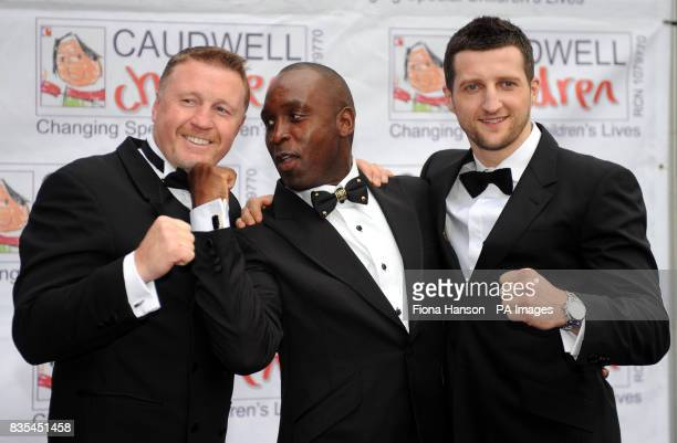 Boxers Steve Collins Nigel Benn and Carl Froch arrive for the Butterfly Ball in Battersea Park London The event by Caudwell Children aims to raise...