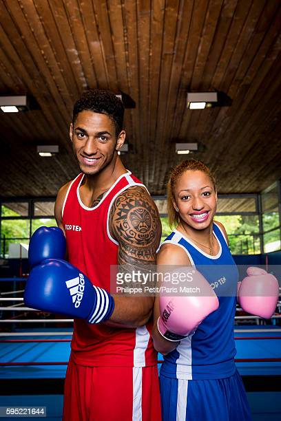 Boxers Tony Yoka and Estelle Mossely are photographed for Paris Match on June 30 2016 in Paris France