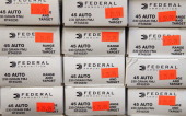 Boxes of 45 cal ammunition are offered for sale at Freddie Bear Sports on October 18 2012 in Tinley Park Illinois Facing a $2675 million fiscal 2013...