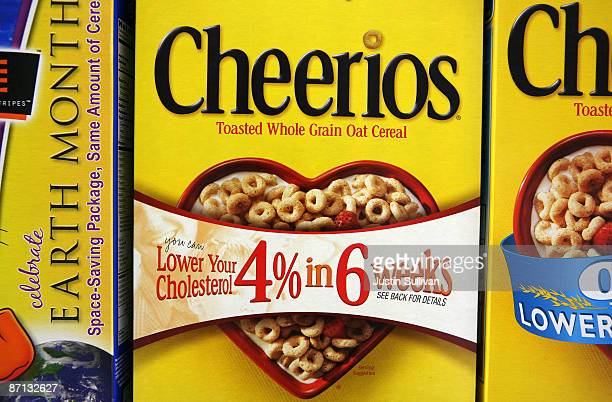 Boxes of Cheerios cereal are displayed on a shelf at the Midtown Market May 12 2009 in Brisbane California The Food and Drug Administration has...
