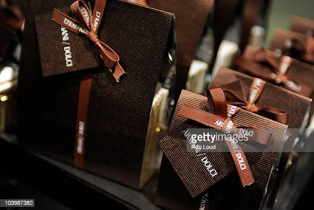 Boxes of chocolate is seen at the Armani / 5th Avenue celebration of Fashion's Night Out at Armani / 5th Avenue on September 10 2010 in New York City