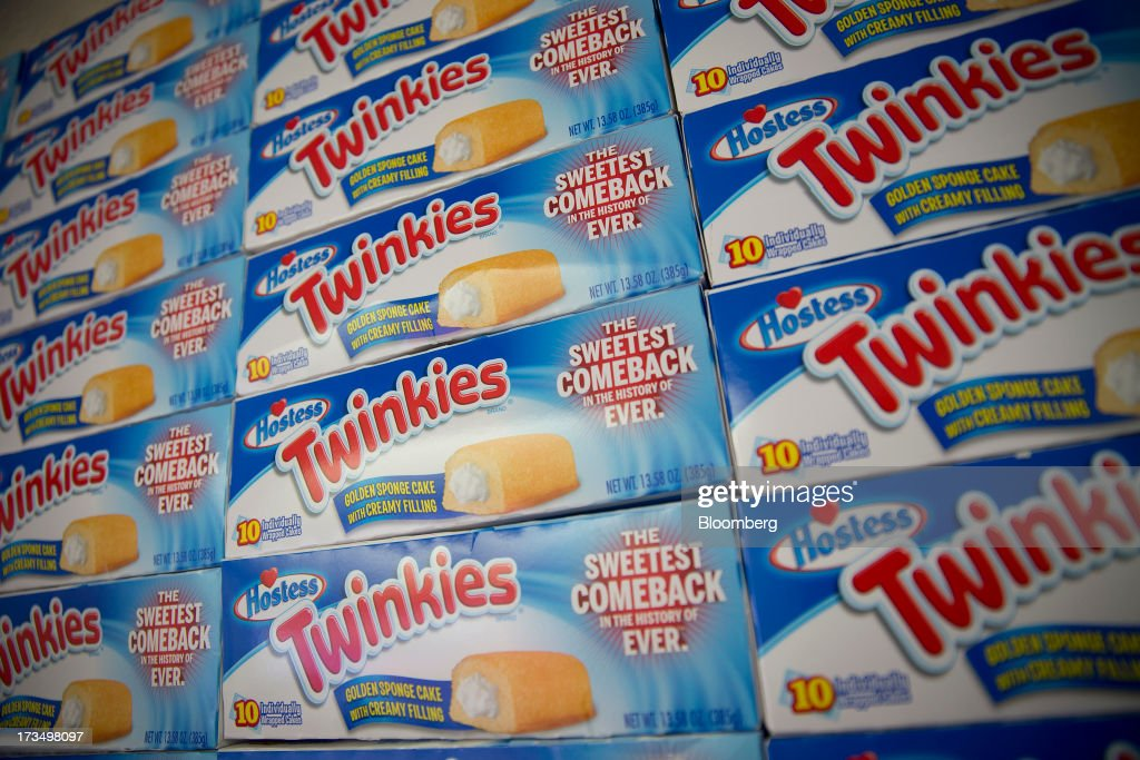 Boxes of Hostess Brands LLC Twinkies snack cakes are stacked in a truck as part of a promotion in New York, U.S., on Monday, July 15, 2013. Hostess Brands LLC officially revives sales of the iconic Twinkie snack cake today, following a seven-month hiatus after the original company decided to liquidate under bankruptcy. Photographer: Scott Eells/Bloomberg via Getty Images