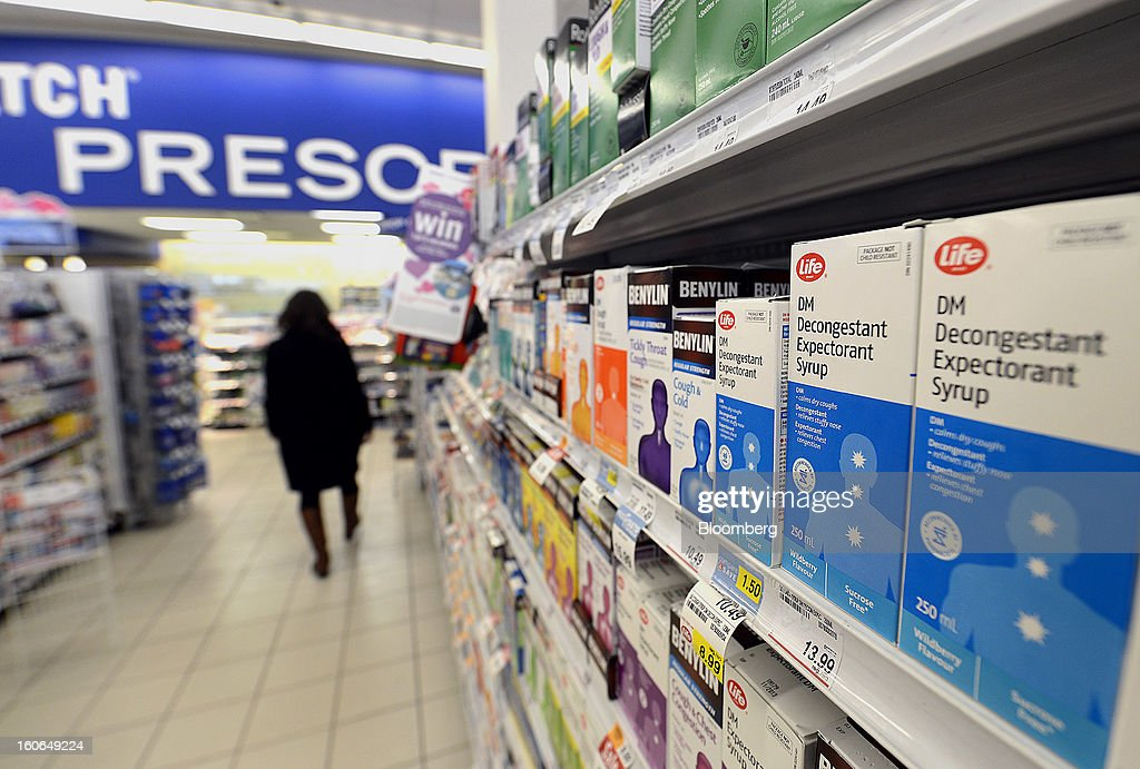Boxes of Shoppers Drug Mart Corp. Life brand cough syrup are displayed for sale at a store in Toronto, Ontario, Canada, on Monday, Feb. 4, 2013. Shoppers Drug Mart Corp., Canada's largest pharmacy chain, is scheduled to release earnings data on Feb. 7. Photographer: Aaron Harris/Bloomberg via Getty Images