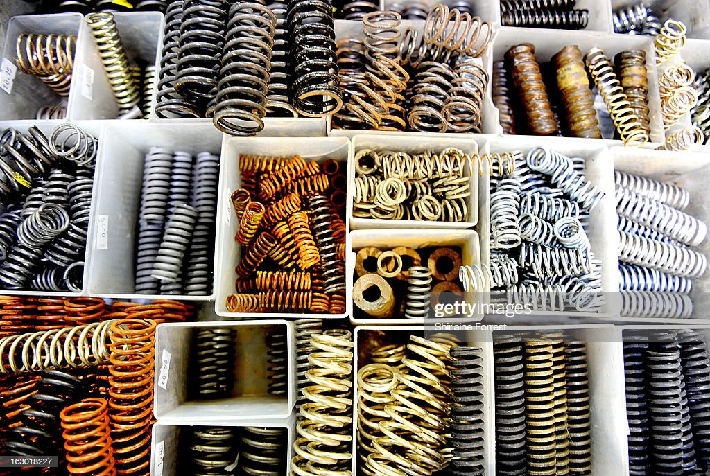 Boxes of springs at the Northern Modelling Exhibition at EventCity on March 3, 2013 in Manchester, England.