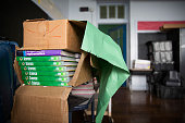 Boxes of textbooks sit in a classroom at Alexander P Tureaud Elementary School in New Orleans on May 27 2014 Alexander P Tureaud Elementary School...