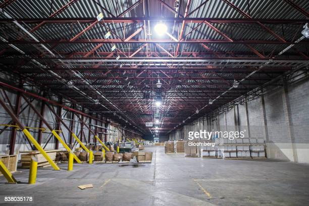 Boxes sit in the Modular Farms Co manufacturing facility in Chesterville Ontario Canada on Friday Aug 18 2017 The popularity of modular farms is...