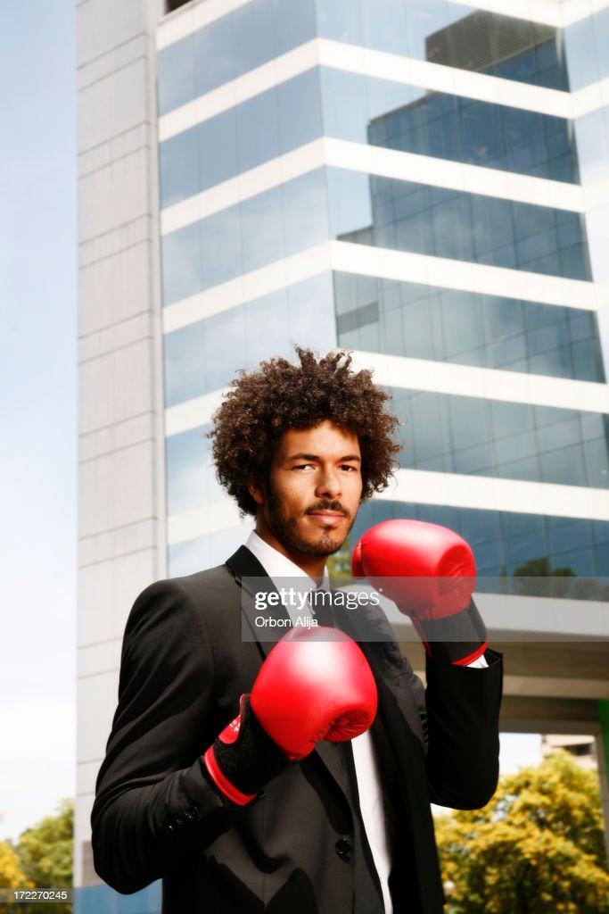 Boxing businessman