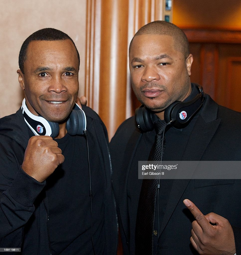 Boxing Champ <a gi-track='captionPersonalityLinkClicked' href=/galleries/search?phrase=Sugar+Ray+Leonard&family=editorial&specificpeople=206479 ng-click='$event.stopPropagation()'>Sugar Ray Leonard</a> and Rapper/Actor Xzhibit attend the Monster Press Conference at Mandalay Bay Convention Center on January 7, 2013 in Las Vegas, Nevada.