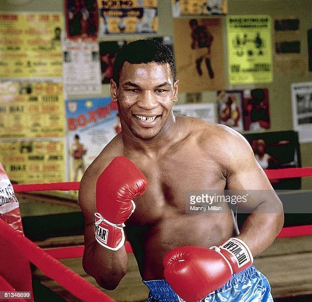 Boxing Closeup portrait of heavyweight Mike Tyson Brooklyn NY 12/1/1985
