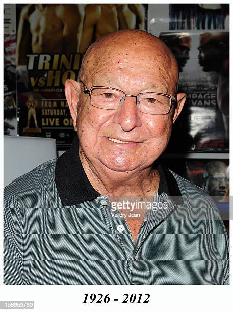 Boxing cornerman Angelo Dundee attends the ribbon cutting ceremony for the 5th Street Gym ReOpening on September 23 2010 in Miami Beach Florida...