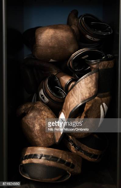 Boxing equipment during the Sime Awards at Epicenter on November 16 2017 in Stockholm Sweden