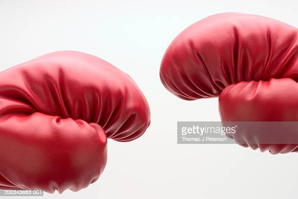 Boxing gloves, close-up (Digital Composite)