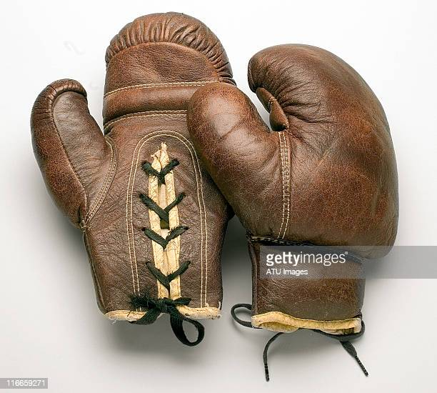 boxing gloves on grey