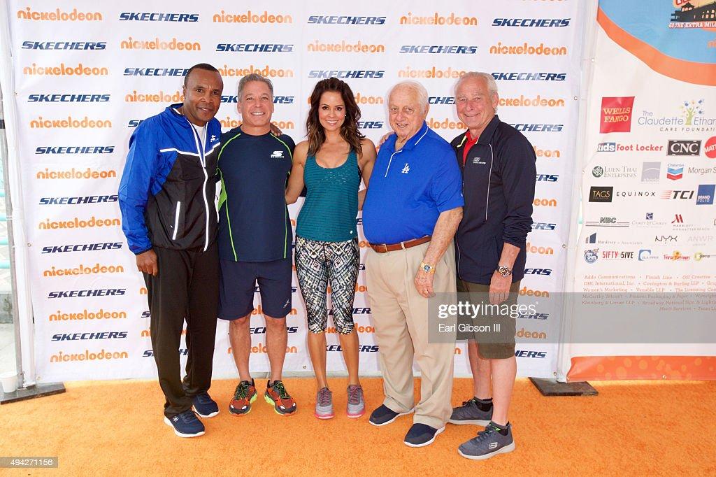 Boxing Legend Sugar Ray Leonard Skechers President Michael Greenberg Brooke BurkeCharvet Tommy Lasorda and guest attend the 7th Annual Skechers...