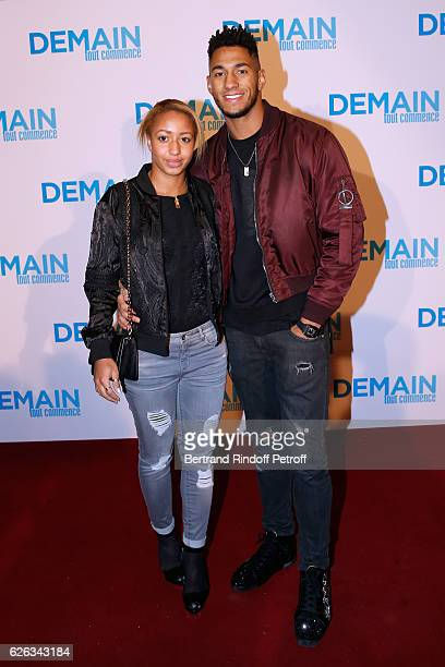 Boxing medalists at the Rio Olympic Games Estelle Mossely and Tony Yoka attend the 'Demain Tout Commence' Paris Premiere at Cinema Le Grand Rex on...