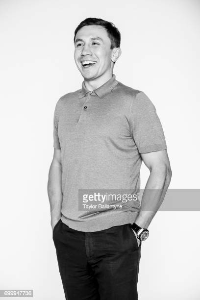 Portrait of middleweight boxer Gennady Golovkin during photo shoot at Time Inc Studios New York NY CREDIT Taylor Ballantyne