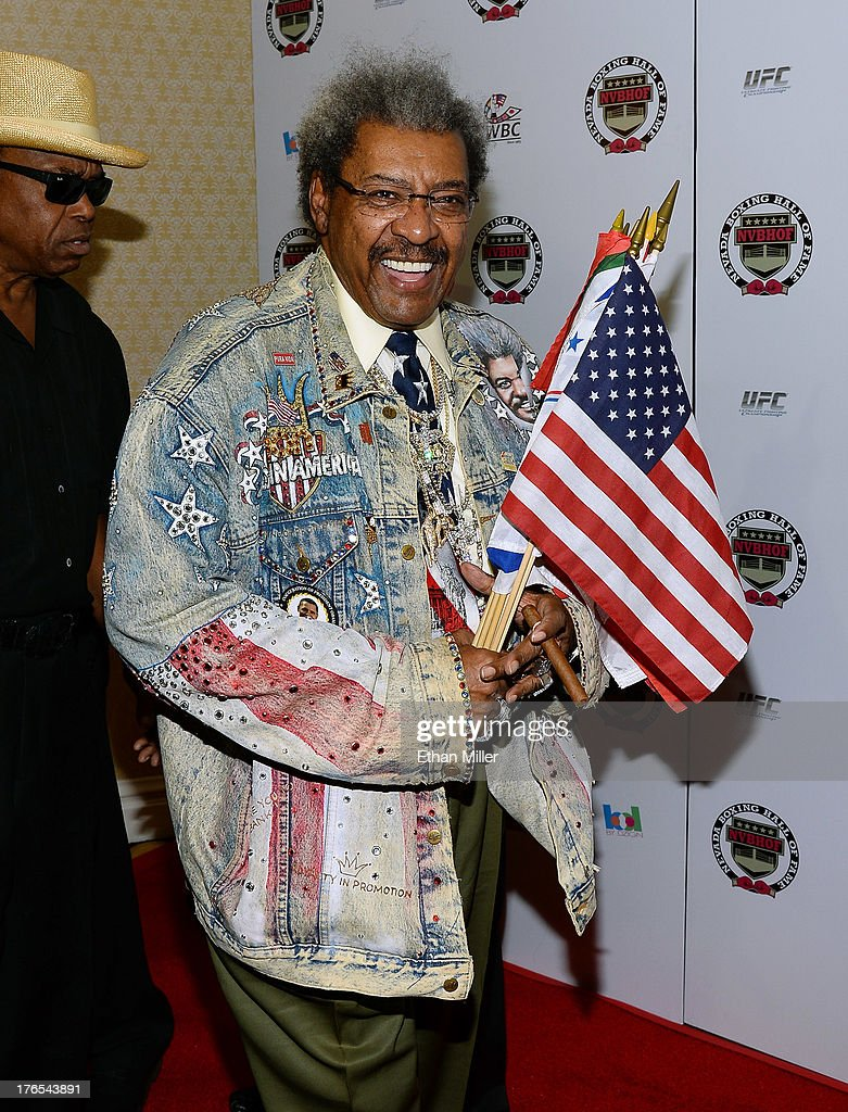 Boxing promoter and inductee Don King arrives at the Nevada Boxing Hall of Fame inaugural induction gala at the Monte Carlo Resort and Casino on August 10, 2013 in Las Vegas, Nevada.