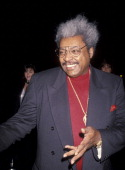 Boxing Promoter Don King attends Neil Bogart Memorial Fund Gala Honoring Clarence Avant on November 13 1993 at the Barker Hanger at the Santa Monica...