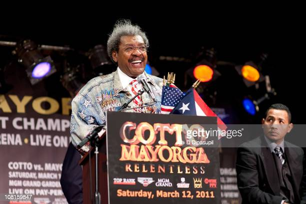 Boxing Promoter Don King attends the Bob Arum and Don King press conference to announce Miguel Cotto vs Ricardo Mayorga at BB King Blues Club Grill...