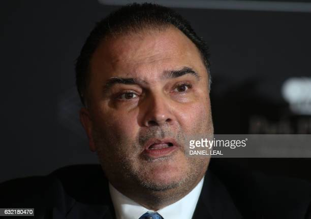Boxing promoter Richard Schaefer during a press conference announcing a deal with to form Hayemaker Ringstar in central London on January 20 2017 /...