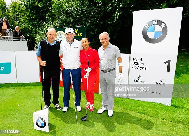Boxing promoter Wilfried Sauerland pro golfer Brandon Grace Jocheved Sauerland wife of Wilfried Sauerland and amateur golfplayer Farbod Dowlatshahi...