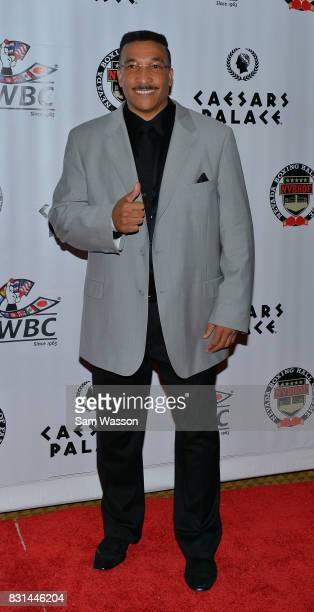 Boxing referee Tony Weeks arrives at the fifth annual Nevada Boxing Hall of Fame induction gala at Caesars Palace on August 12 2017 in Las Vegas...