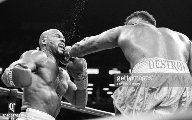 Showtime Championship Boxing Gerald Washington in action vs Jarrell Miller during heavyweight bout at the Barclays Center Brooklyn NY CREDIT Erick W...