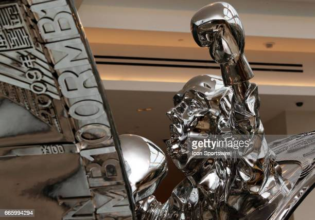 A boxing statue in MGM National Harbor on April 06 at MGM National Harbor in Oxon Hill MD
