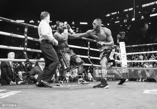 WBC Heavyweight Championship Deontay Wilder in action vs Bermane Stiverne during Showtime Championship bout at Barclays Center Brooklyn NY CREDIT...