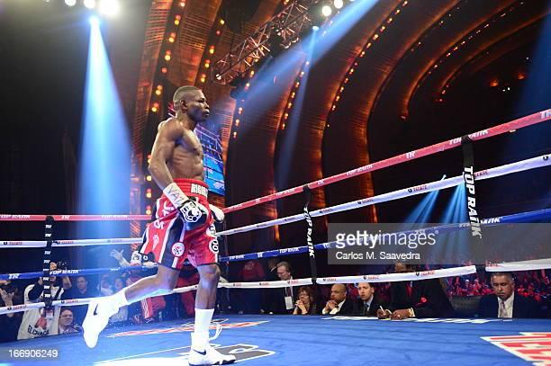 WBO/ WBA Super World Super Bantamweight Title Guillermo Rigondeaux before fight vs Nonito Donaire at Radio City Music Hall New York NY CREDIT Carlos...
