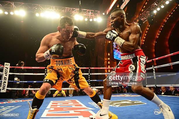 WBO/ WBA Super World Super Bantamweight Title Guillermo Rigondeaux in action vs Nonito Donaire during fight at Radio City Music Hall New York NY...