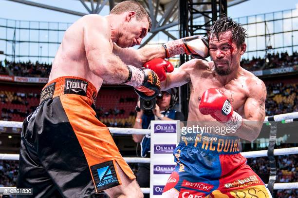 WBO World Welterweight Title Jeff Horn in action vs Manny Pacquiao during bout at Suncorp Stadium Brisbane Australia 7/2/2017 CREDIT Erick W Rasco