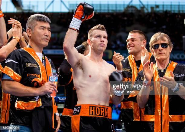 WBO World Welterweight Title Jeff Horn in his corner before bout vs Manny Pacquiao at Suncorp Stadium Brisbane Australia 7/2/2017 CREDIT Erick W Rasco