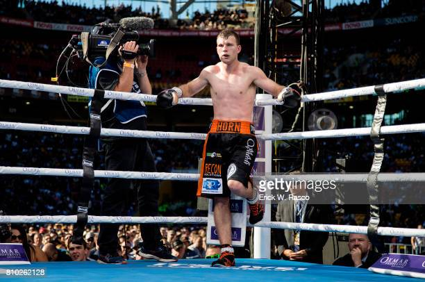 WBO World Welterweight Title Jeff Horn in his corner during bout vs Manny Pacquiao at Suncorp Stadium Brisbane Australia 7/2/2017 CREDIT Erick W Rasco