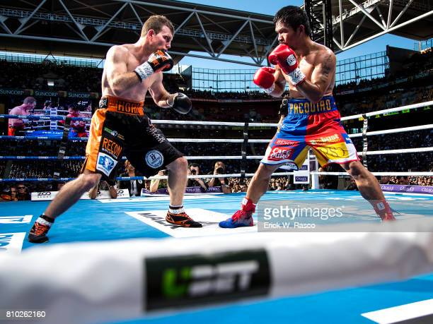 WBO World Welterweight Title Manny Pacquiao in action vs Jeff Horn during bout at Suncorp Stadium Brisbane Australia 7/2/2017 CREDIT Erick W Rasco
