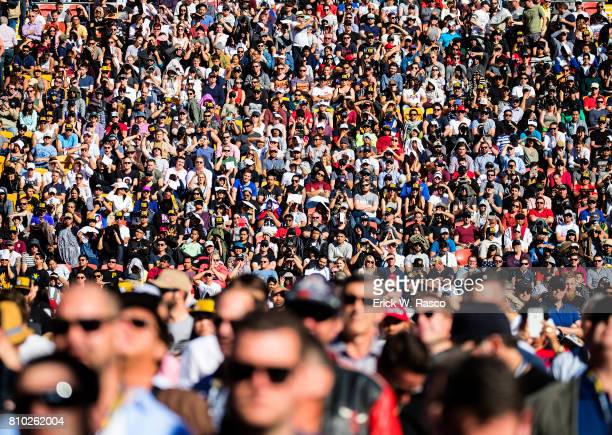 WBO World Welterweight Title Overall view of crowd in stands during Manny Pacquiao vs Jeff Horn bout at Suncorp Stadium Brisbane Australia 7/2/2017...
