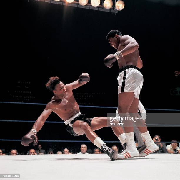 Boxing World Heavyweight Title Muhammad Ali in action knockout vs Cleveland Williams during round 3 of fight at Astrodome Houston TX CREDIT Neil...