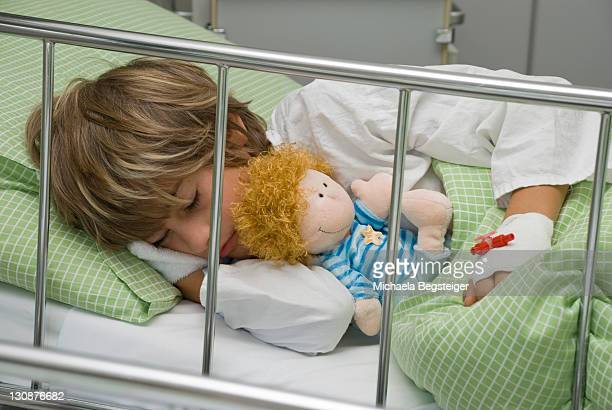 Boy, 10 years, in children's hospital