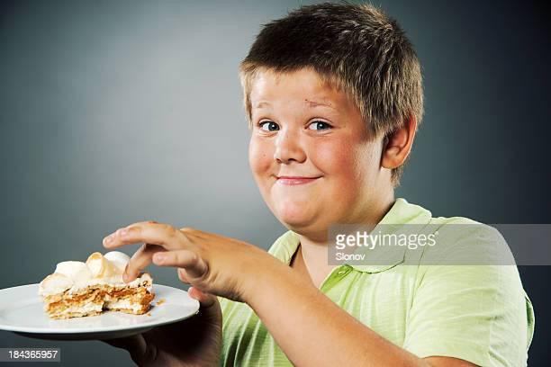 Boy and cake