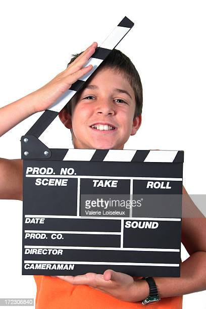 Boy and film slate
