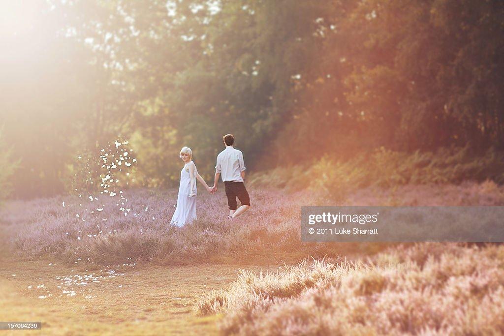 boy and girl conceptual portrait : Stock Photo