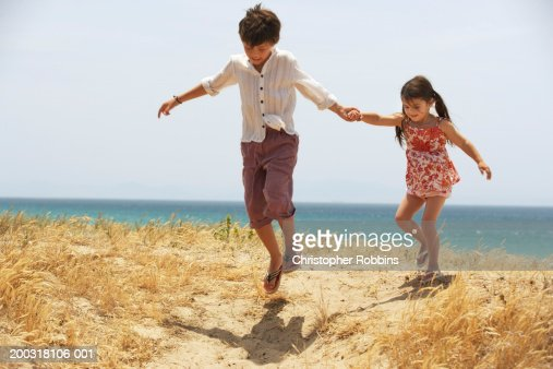 detail photo girl hold hands walk royalty free image