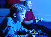 Boy and Girl Playing a Video Game