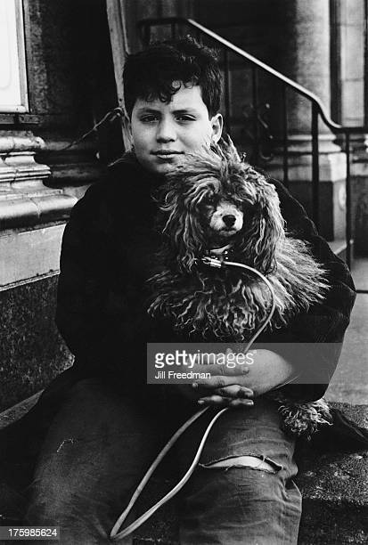 A boy and his dog on the Lower East Side New York 1967