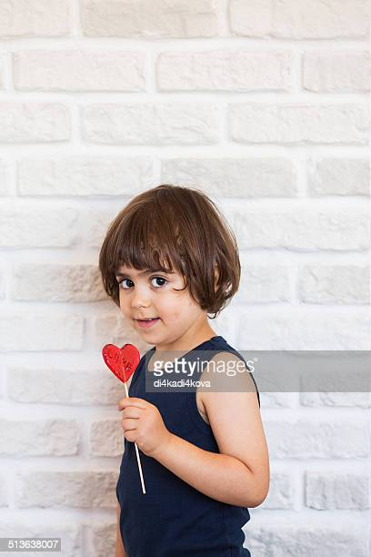 Boy and lolipop