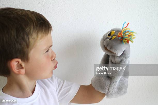 Boy and puppet