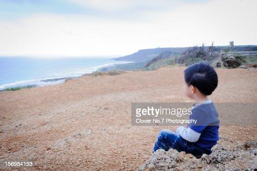 boy and sea : Stock Photo