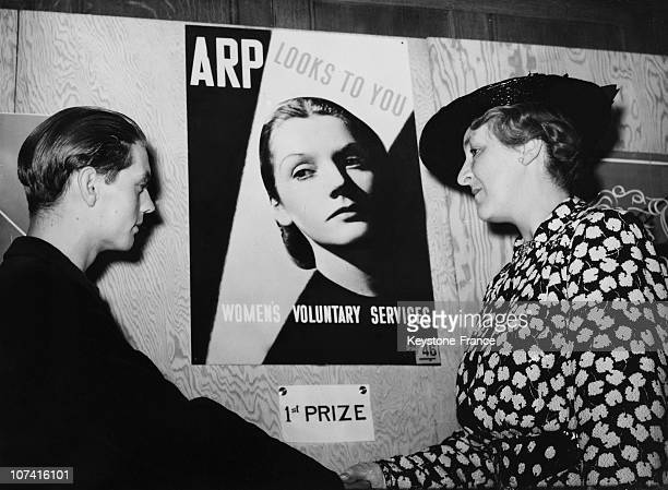 Boy Artist Pooster Chosen For Women Arp Service In London On September 1938