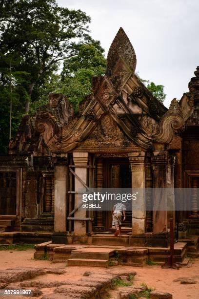 A boy at Banteay Srei Temple