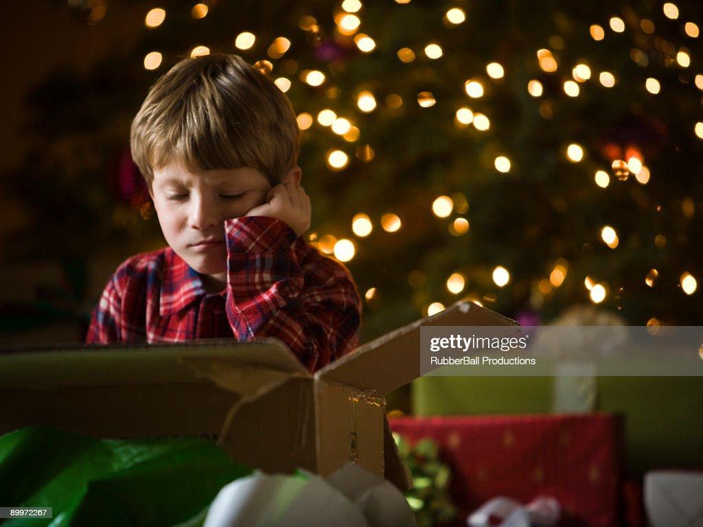 boy at christmas : Stock Photo